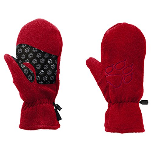 JACK WOLFSKIN Handschuhe FLEECE MITTEN KIDS, ruby red, 104, 1901871-2505104