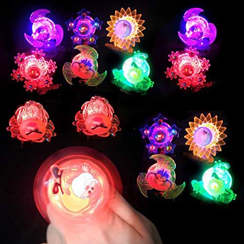 15pcs Vientiane Juguetes Luminosos para Niños, BESTZY Anillos Pulseras Luminosas, Ajustables Ideal...