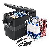 JoyTutus 12 Volt Portable Car Refrigerator Freezer, 42 Quart/40L Fridge with Compressor (-4℉~50℉) for Van, Car, Truck, RV, Vehicle, Boat, Electric Cooler for Camping, Road Trip, Outdoor and Home