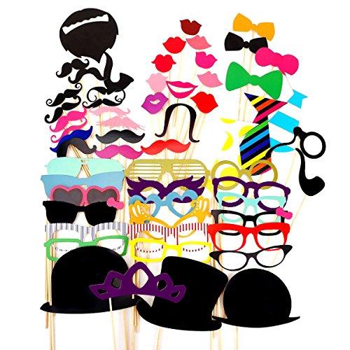 Tinksky 58-in-1 fai da te divertente occhiali colorati baffi...