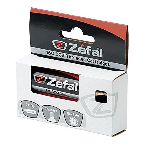 ZEFAL - 36293/213 : 2 bombonas cartuchos aire comprimido con rosca CO2 16 Grs.