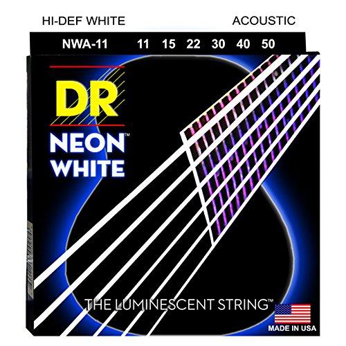 DR A NEON NWA-11 HiDef Acoustic Saite weiß