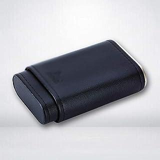 Outdoor Cowhide Cedar Wood Portable Cigar Box Storage Case Travel Smoking Accessories Men Gadget Business Gifts for Husban...