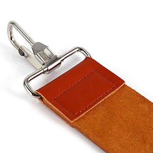 Cinturón de cuero, suave y elegante correa de afeitar, afeitadora, afiladora, marrón claro para afilar navajas de afeitar rectas en casa