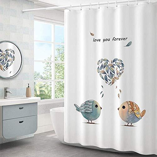 Gordijn Douchegordijn De leuke Printed Antibacteriële douchegordijn Liner Schimmelbestendig Badkamer Curtain Polyester douche douchegordijn Liner for Badkamer (Kleur: Wit, Maat: 150x180cm)
