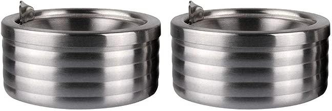 Balcon cendrier Portable pour ext/érieur et cendrier LIULIUKEJI Cendrier avec Couvercle Grand cendrier en Acier Inoxydable r/ésistant au Vent en Acier Inoxydable Bureau pour Jardin terrasse