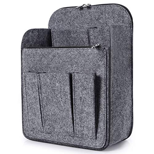 Yoillione Felt Backpack Organizer Insert for Women and Men, Large Travel Rucksack Insert with High Capacity, Lightweight Bag Organizer with Zipper Pockets