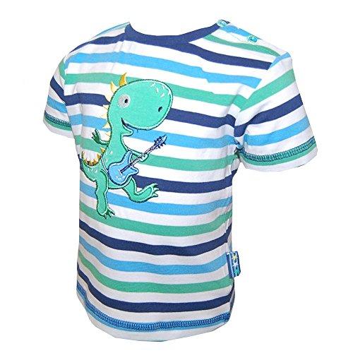 SALT AND PEPPER - Baby T-Shirt Jungen gestreift, blau-grün, Größe 68