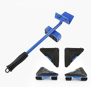 Furniture Lifter - Kit de herramientas para mover y levantar muebles pesados, peso máximo de carga 660 libras, almohadilla giratoria de 360 grados (azul o rojo, solo color aleatorio)