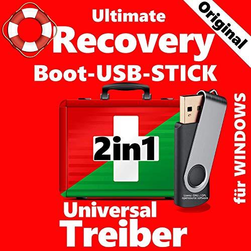 PC NOTFALL REPARATUR RECOVERY REPAIR SICHERUNG BOOT Recovery & Repair & TREIBER USB BOOT Stick WINDOWS XP 7 8 10 -Das Original-