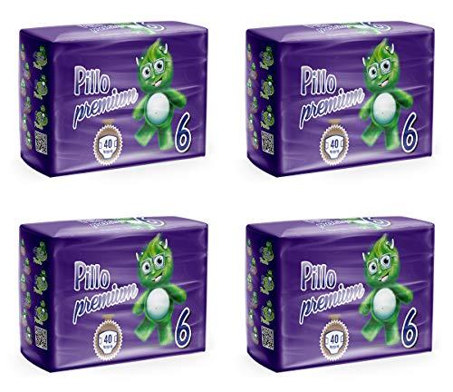 PILLO Premium XL, Taglia 6 (16-30 Kg), 4 Pacchi da 40 (160 Pannolini Bimbo)