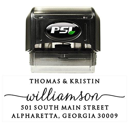 Custom Personalized Self Inking Return Address Stamp - Wedding, Housewarming, Teacher or Christmas Gift
