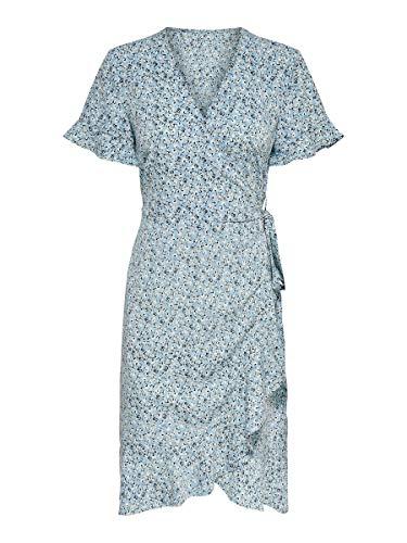 ONLY Female Kleid Wickel 40Dusk Blue