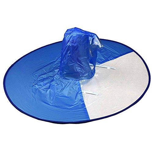 GOOTRADES Regenschirm Hut Cap mit Elastischen Riemen Hände Frei für Kinder Erwachsene Blau, M