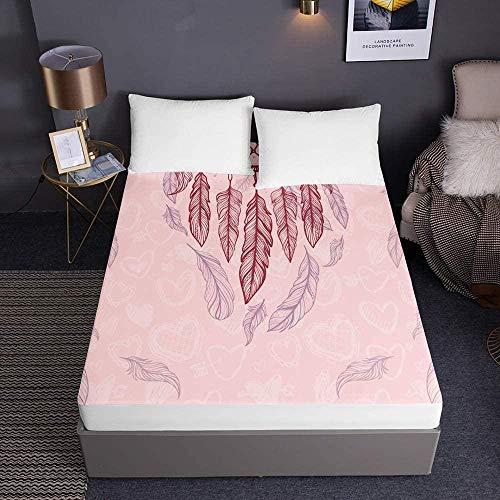 Bedrukte hoeslakens voor eenpersoons tweepersoons kingsize bed 3D-beddengoed Diepe zak 30 cm - Zachte microfiber gemakkelijk te onderhouden-200x200x30cm_2
