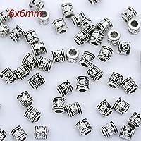 100個の銀製の処分用金属真珠の宝石類の宝石類のDIYブレスレット6mm-A9430