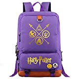 The Deathly Hallows College Notebook School Bag, Bolso de la Escuela estudiantil de Moda Unisex Harry Potter Casual Rucks Medio Púrpura