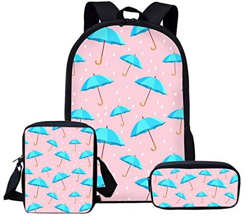 Schoolrugzak creatieve stijl zeer goede smaak schoolrugzak voor kinderen meisjes paraplu roze print kleuterschool Primaire rugzak casual dames rugzak B