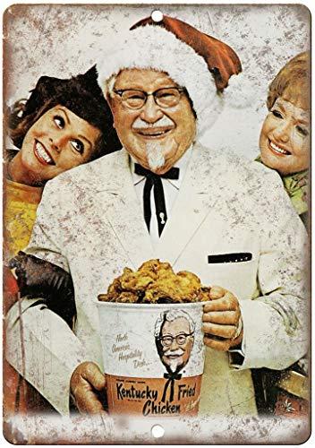 Kentucky Fried Chicken Colonel Sanders KFC Zinn Schild Eisen Gemälde Metall Wand Plakette Poster Zum Bar Kaffee Restaurant Schlafzimmer Garage Verein