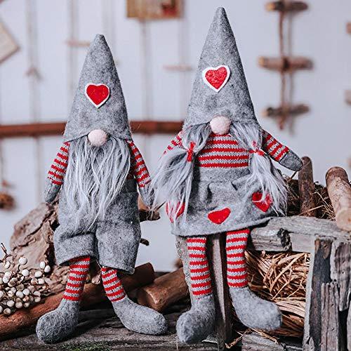Handfly Figuras navideñas de muñeco de peluche de gnomo de