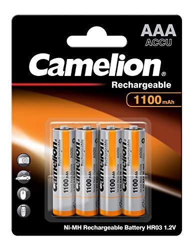 Camelion 17011403 Akku (NiMH, R03, Micro, AAA, 1100 mAh, 4er-Pack)