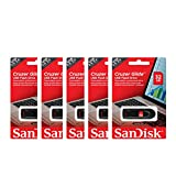 SanDisk Cruzer Glide 32GB (5 Pack) SDCZ60-032G USB 2.0 Flash Drive Jump Drive Pen Drive SDCZ60 - Five Pack in Retail Packaging! + Wisla Trust (TM) Lanyard