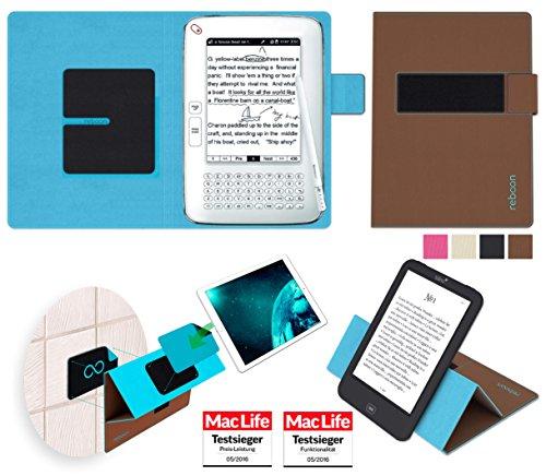 reboon Hülle für Hanvon WISEreader N526 Tasche Cover Case Bumper | in Braun | Testsieger