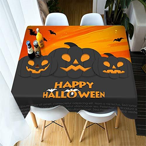 SONGHJ Polyester Nappe Créative Citrouille Halloween Impression Nappe Halloween Décoration Table Nappe Photo Couleur 70X70cm