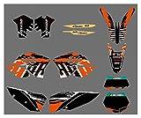 bazutiwns Gráficos del Equipo de la Motocicleta con Pegatinas de Fondos a Juego para KTM SX XC XC-W Exc Series 2008-2011 HSLL