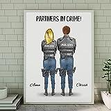Polizei Paar Memory Poster | Personalisiertes Geschenk für