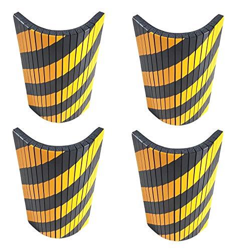 SNS SAFETY LTD Protección Garaje Adaptable, Tiras de Espuma Adhesivas con Cortes, para cualquier Esquina y Columna Redonda, 44x25x2 cm, 4 Piezas (Negro Amarillo)