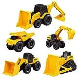 yywl Vehículos de Construcción 5PCS/Set Bulldozer Tractor Set Excavadora Ingeniería Simulación Juguete Dump Set Vehículo de Construcción Niños ABS Mini Máquina Pequeña