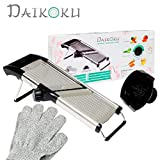 Adjustable Manual Mandoline Slicer Stainless Steel - Kitchen Food Cutter and Chopper For Vegetable...