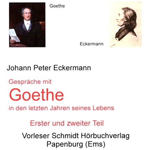 Gespräche mit Goethe in den letzten Jahren seines Lebens audiobook cover art