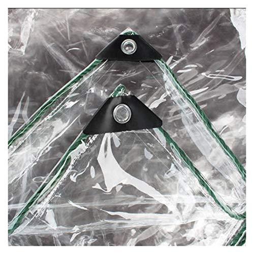 YJFENG Lona Transparente 100% Impermeable, Cubierta De Toldo De Lona De Plástico De PVC De 0,3 Mm, A Prueba De Lluvia A Prueba De Viento, para Decoración De Casas, Terrazas