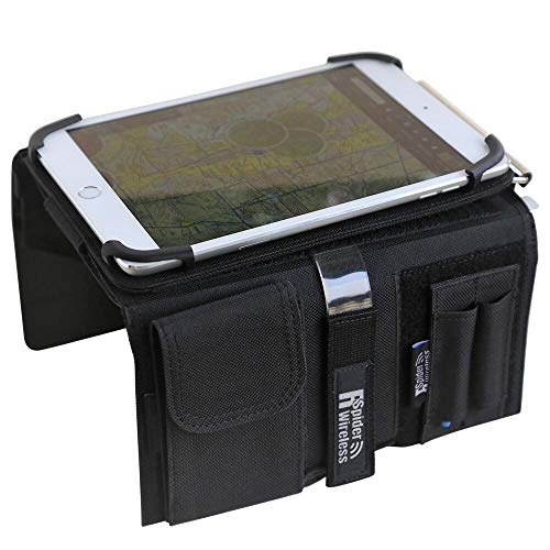 Pilot Kneeboard with Aluminum Clipboard. Compatible with 7.9 inch Apple iPad Mini 3 and 4, Android Devices Similar in Size