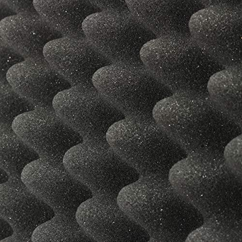 『Enipate 吸音材 ウレタン スポンジ 波型 24枚セット 30*30*3cm ウレタンフォーム 防音 12枚セット (24枚セット・ブラック)』のトップ画像