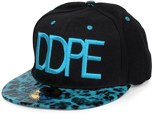 styleBREAKER Snapback Cap 'DDPE' im Leo Design mit Schlangen Prägung, verstellbar, Unisex 04023034,...