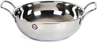 Embassy Stainless Steel Sandwich Bottom Kadhai (Size 12, 23 cms) - 1800 ml