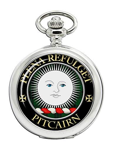 Pitcairn - Reloj de Bolsillo con Escudo del Clan escocés