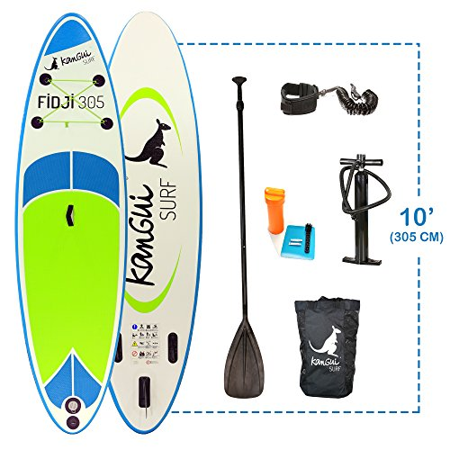 Kangui - Stand up Paddle 305cm Sup Gonflable + pagaie + Sac à Dos + Pompe Haute Pression + Leash +...