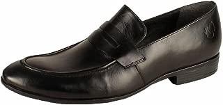 Salt N Pepper Black/Brown Men's Slip On Leather Formal Shoes