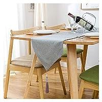 ホームダイニングのテーブル ランナー、家の装飾 Table Mat レース表ランナーヨーロッパの亜麻からホームリネンテーブルランナー手作り、結婚式/ブライダルパーティー/素朴なイベントのためにマシンウォッシャブルクラシックテーブルランナー 美しく、リラックスできる住まい LLNN (Color : Blue, Size : 30*220cm)