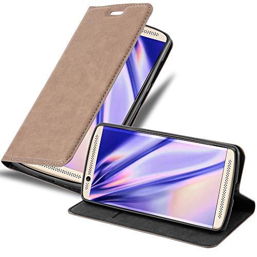 Cadorabo Hülle für ZTE AXON 7 Mini in Kaffee BRAUN - Handyhülle mit Magnetverschluss, Standfunktion & Kartenfach - Hülle Cover Schutzhülle Etui Tasche Book Klapp Style