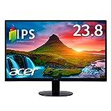 Acer モニター ディスプレイ AlphaLine 23.8インチ SA240YAbmi フルHD IPS フレームレス HDMI D-Sub スピーカー内蔵 ブルーライト軽減 薄型