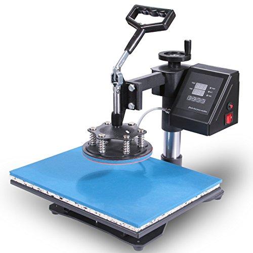Lartuer Transferpresse Tassenpresse Textilpresse T Shirtpresse Heat Press Machine 8 in 1 Mulitifunktional Sublimation 360-Grad-Drehung (8IN1) - 6
