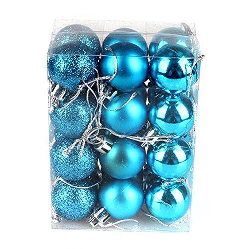 Ornamenti decorativi decorativi decorativi decorativi decorativi natale di Natale delle palle di natale 24pcs per la festa di nozze festa festiva multicolored da yunhigh - turchese