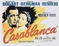 直輸入、大きな写真「カサブランカ」ポスター調、ハンフリー・ボガート、イングリッド・バーグマン、Casablanca, Ingrid Bergman, & Humphrey Bogart