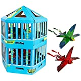 Zing Go Go Bird Special Edition Cage Packaging with 2 Birds – Remote Control Flying Toy – Red and Green - Great Starting RC Toy for Boys and Girls That is Easy to Use Indoors and Outdoors (ZG789G)