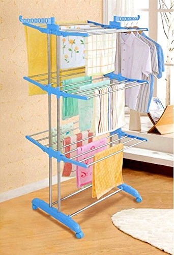 SYNERGY - Heavy Duty Stainless Steel Double Pole Foldable Cloth Dryer/Clothes Drying Stand (SY-CS5.3)
